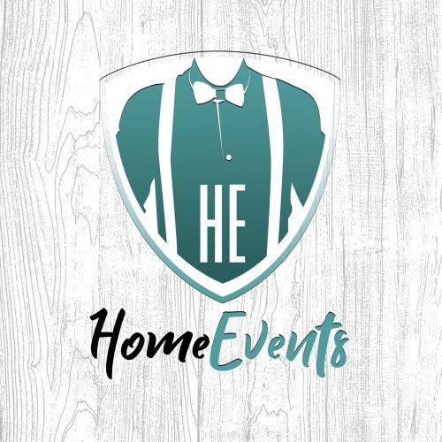 Logo Home Events fondo madera